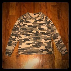 J Crew Camo Sweatshirt